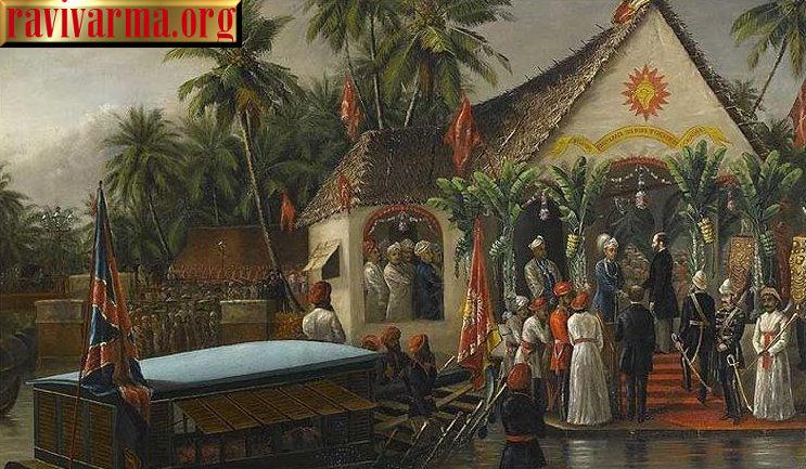 A historic meeting by Raja Ravi Varma