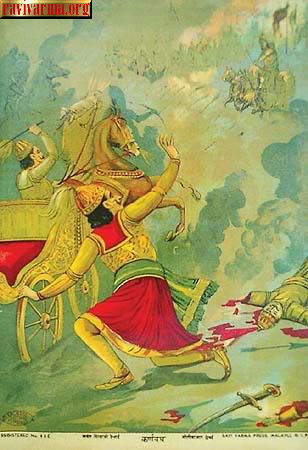 Death of Karna by Raja Ravi Varma