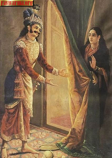 Keechaka and Sairandhri by Raja Ravi Varma