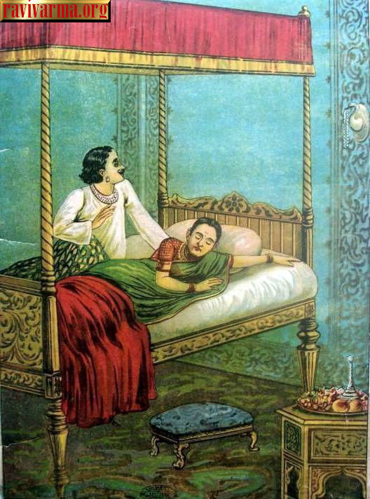 King and Queen by Raja Ravi Varma