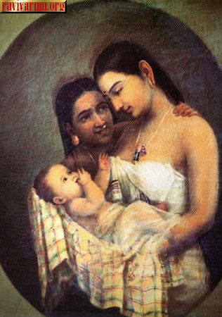 Mother and child by Raja Ravi Varma