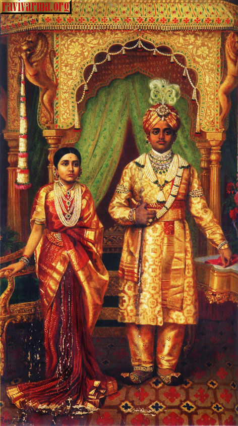 Royal marriage by Raja Ravi Varma