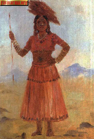 Village lady by Raja Ravi Varma